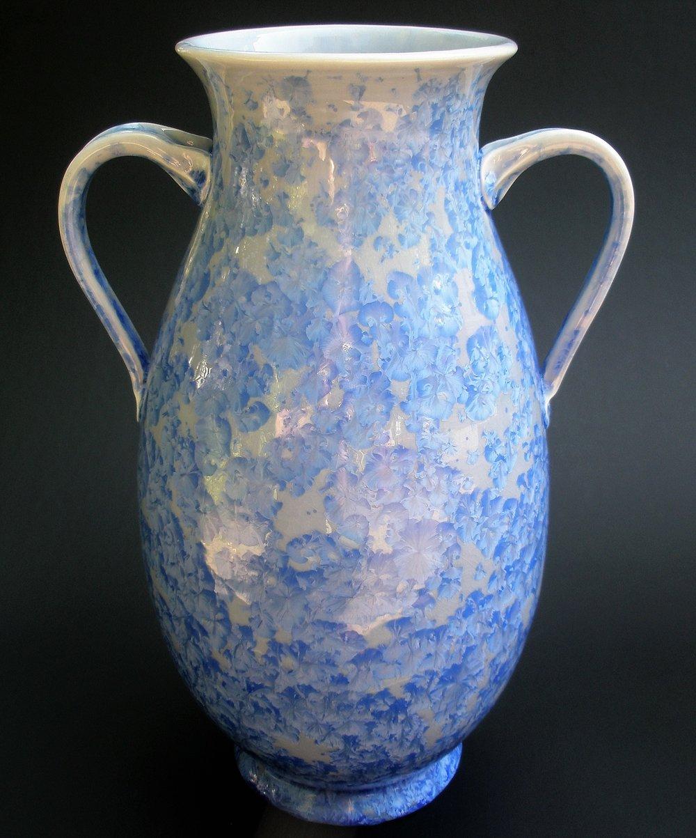 Large Crystalline Glazed Amphora