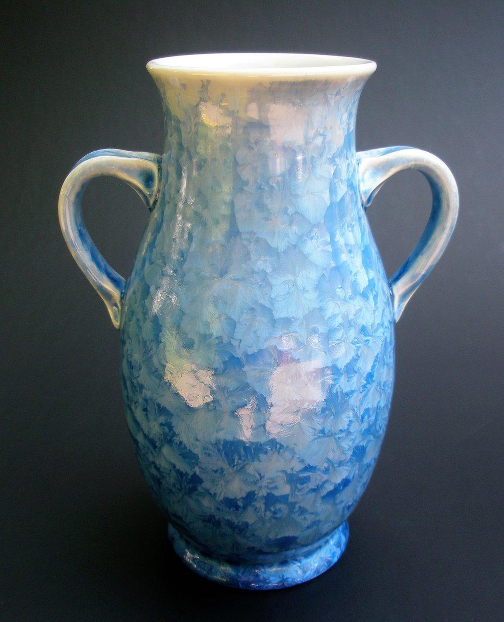 Small Crystalline Glazed Amphora