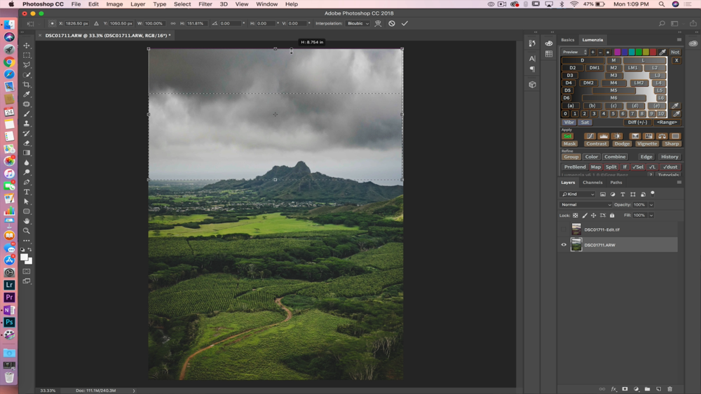 How to FIX WIDE ANGLE SHRINKAGE Fast in Photoshop! 03