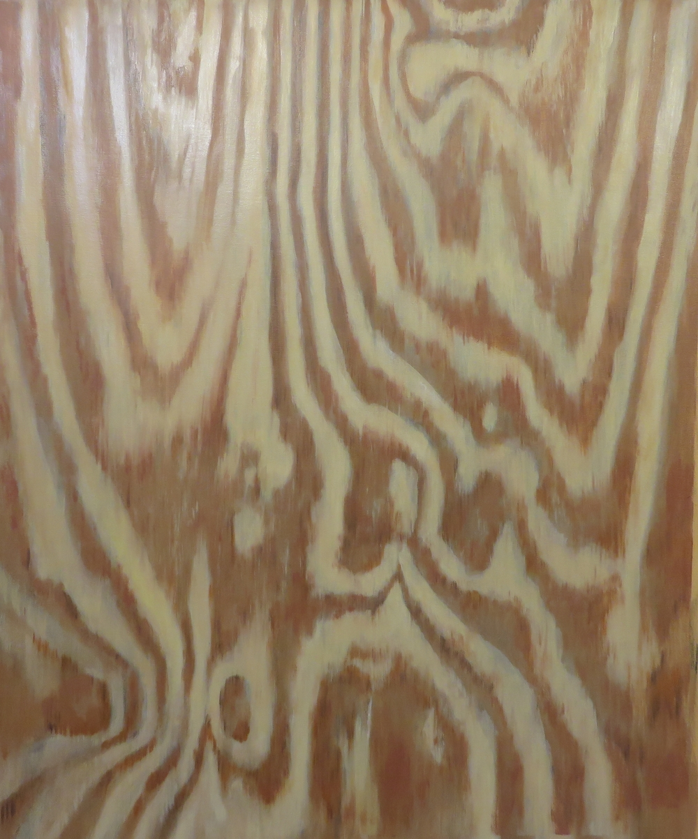 "Plywood, 2014, oil on canvas, 44""x40"""