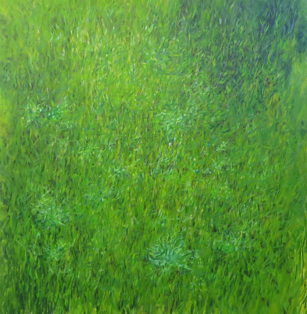 "Grass, 2015, oil on canvas, 44""x40"""