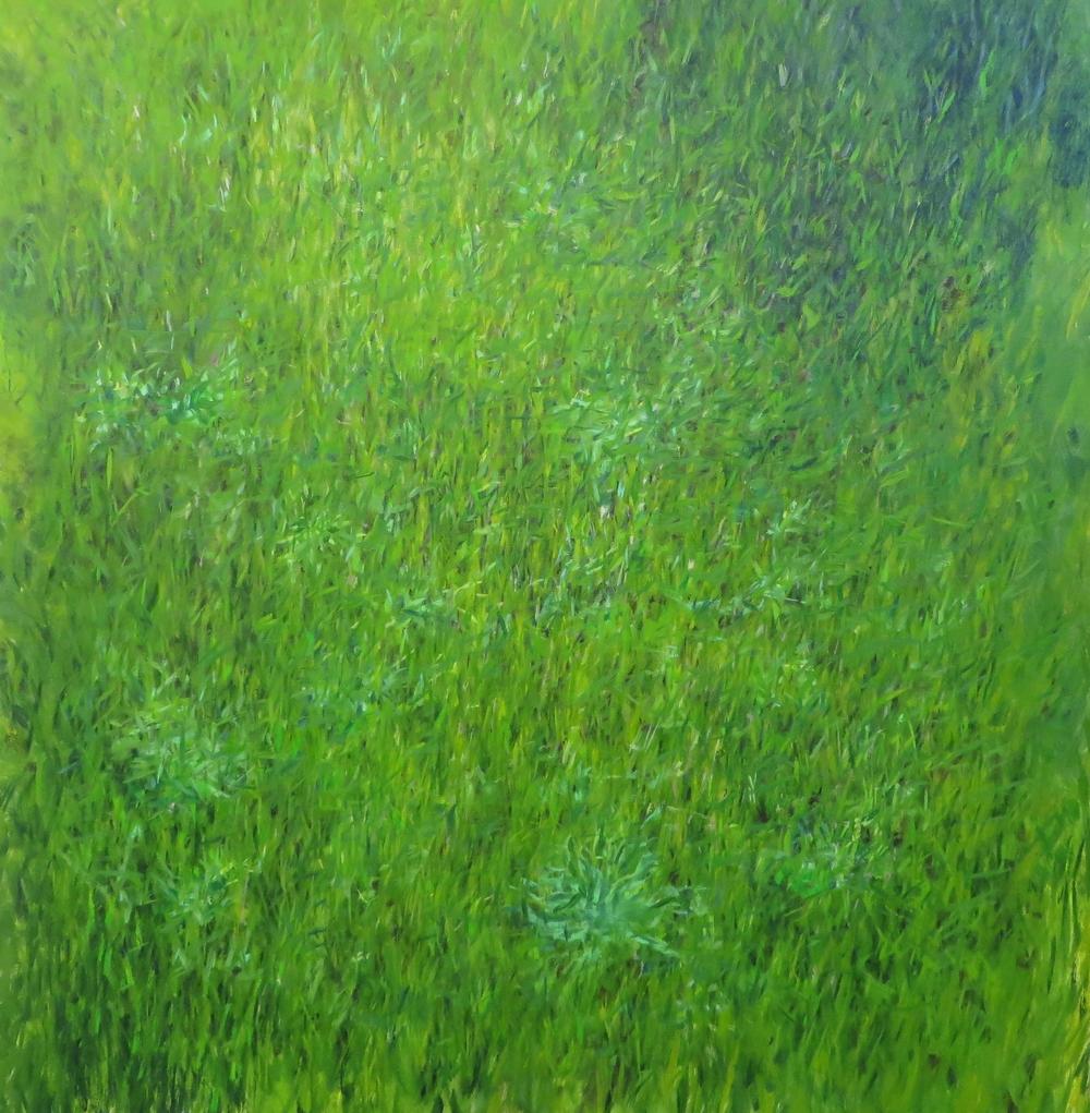 "Grass, 2015, oil on canvas, 44""x40"""