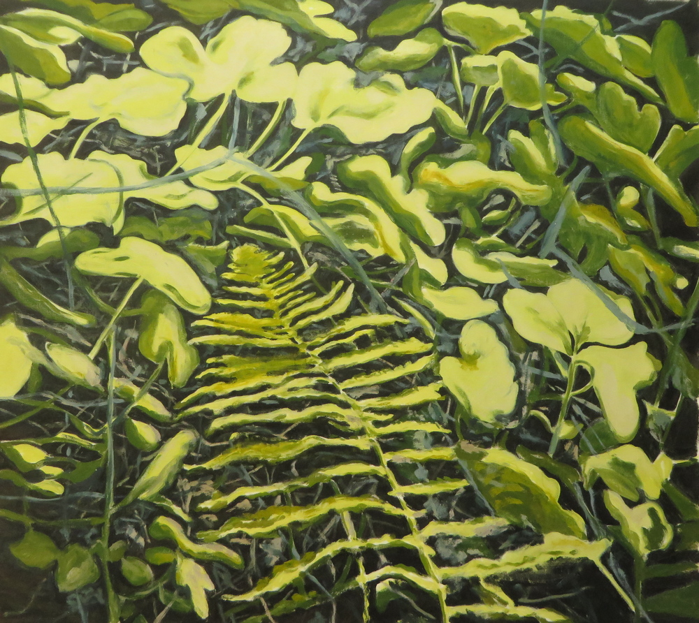 "Greenery 2, 2013, oil on canvas, 44""x40"""