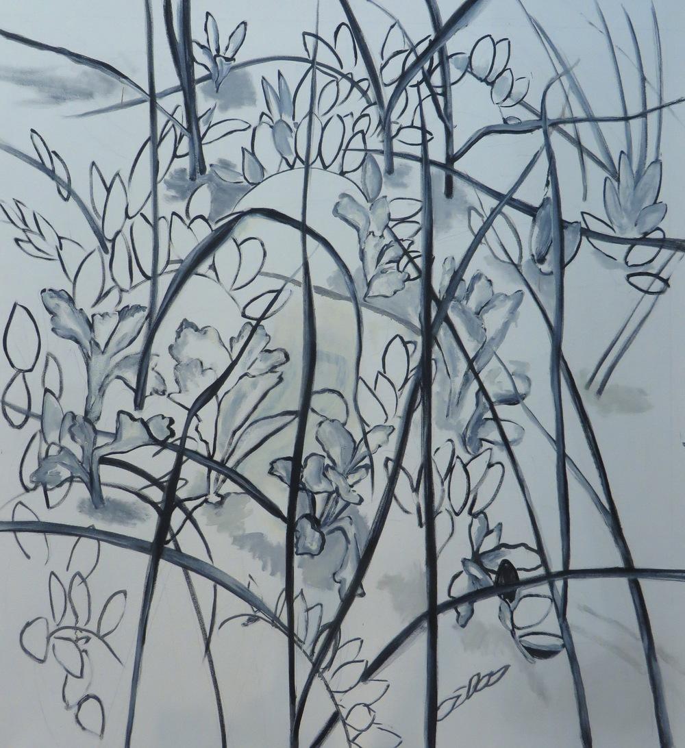 "Monotone Dunes 3, 2011, oil on canvas, 44""x41"""