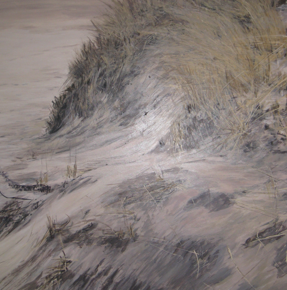 "Dune View, 2007, oil on canvas, 48""x48"", SOLD"
