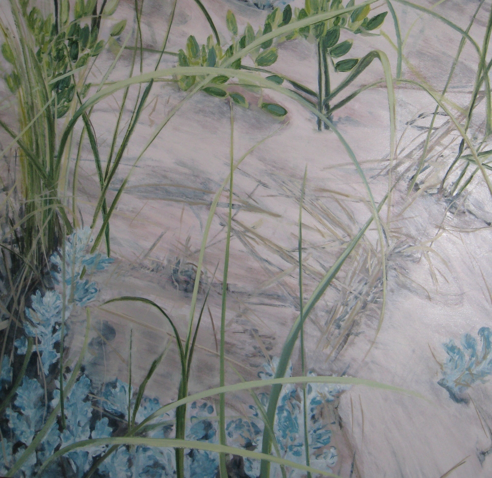 "Dunes View, 2007, oil on canvas, 48""x48"", SOLD"