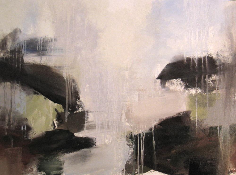 "Jade 2, 2009, oil on canvas, 30""x42"""