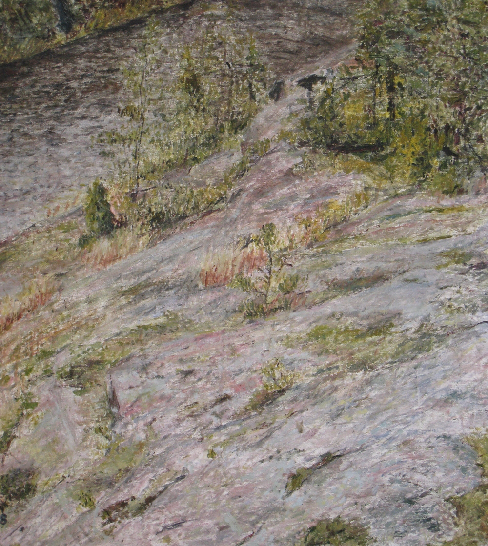 "Hillside, 1998, oil on canvas, 86""x78"""