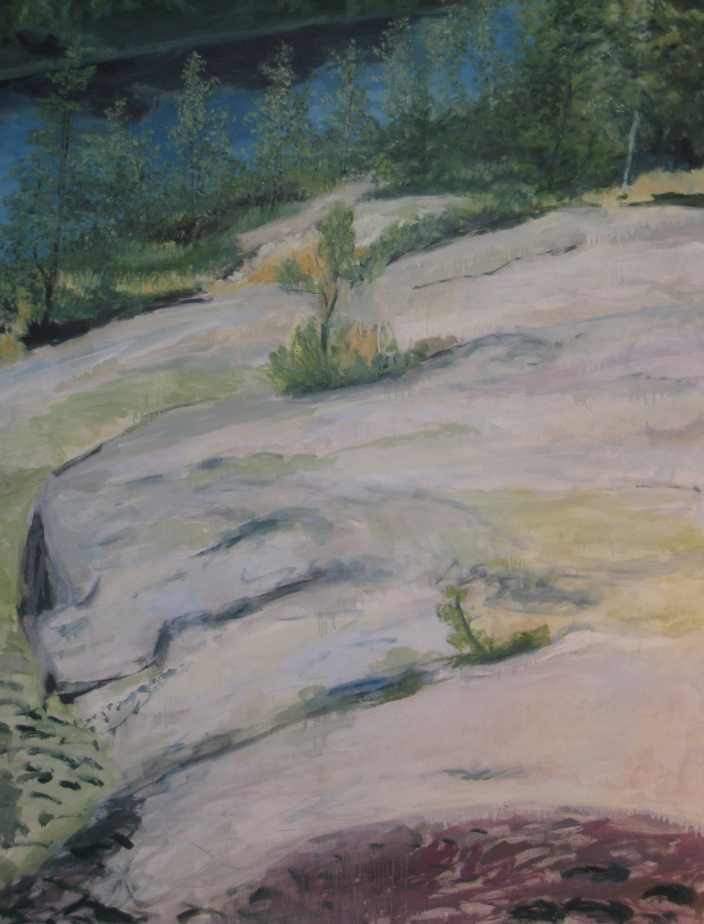 "Hillside Landscape, 1999, oil on canvas, 86""x78"""