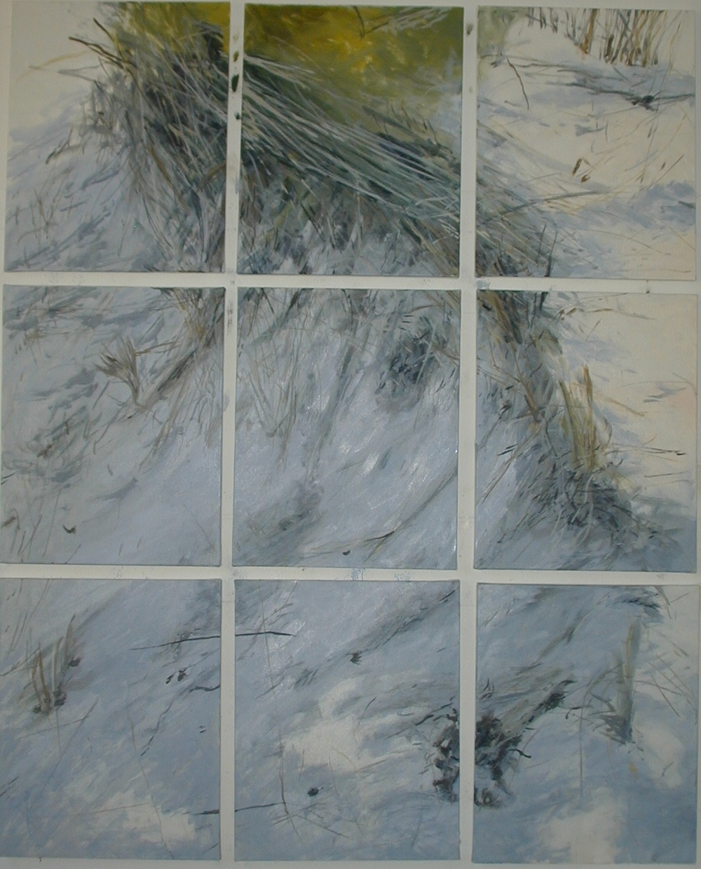 Nine Canvas Dunes, 2007, SOLD
