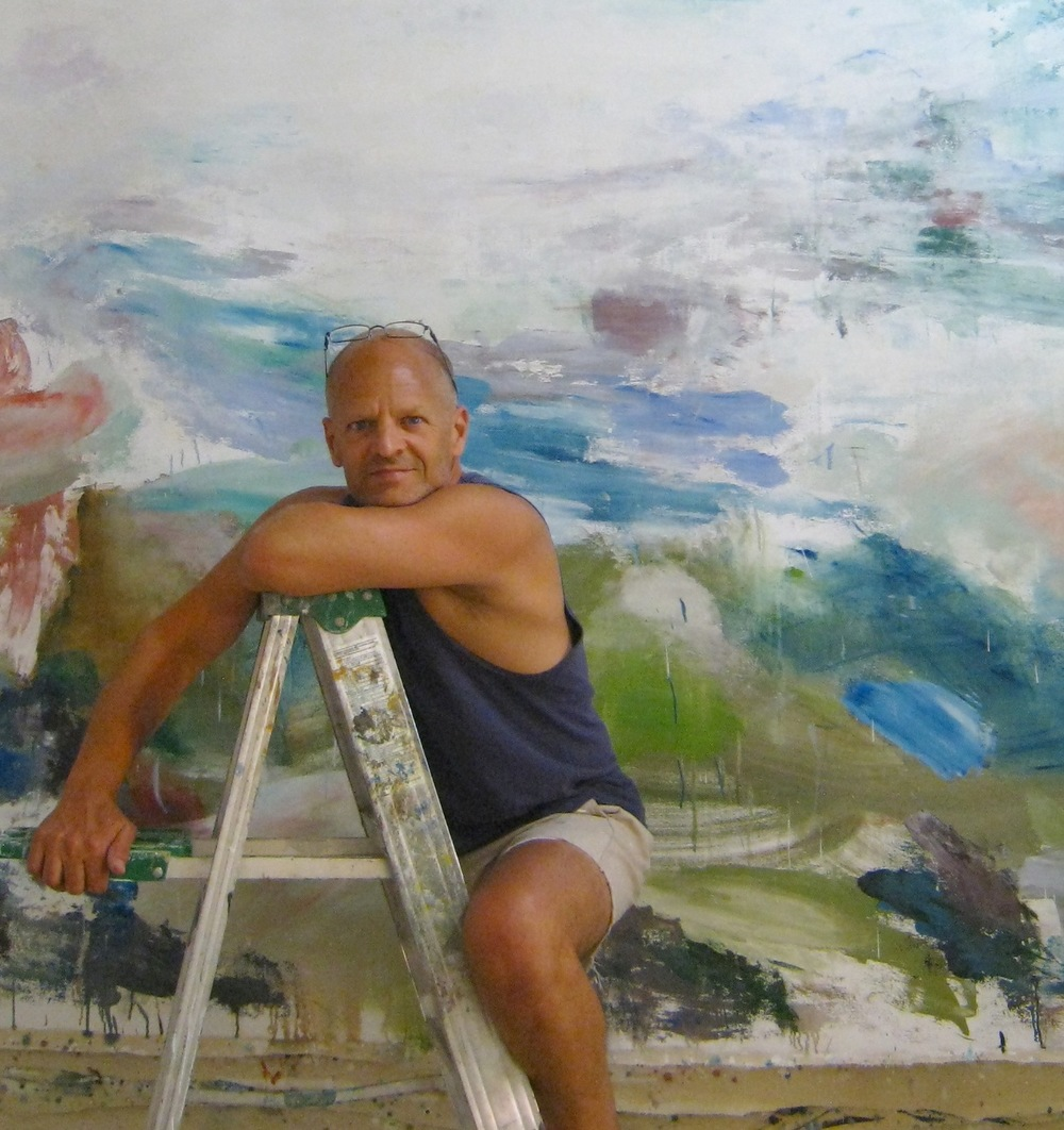 Perry in front of Summertime, 2013