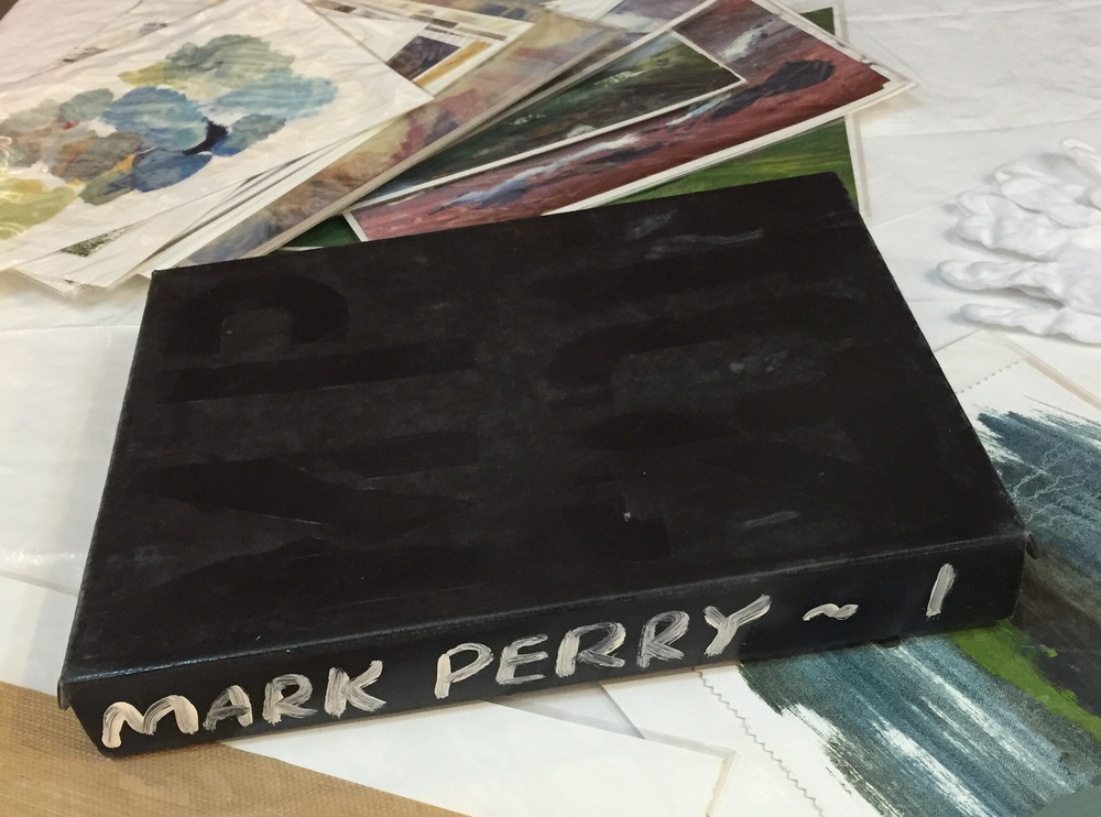 "Artist Book, clam-shell box containing 50 works on paper. 11""x14"" each. Priced individually."