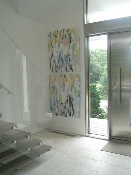 Vertical Diptych, 2013, Private Residence