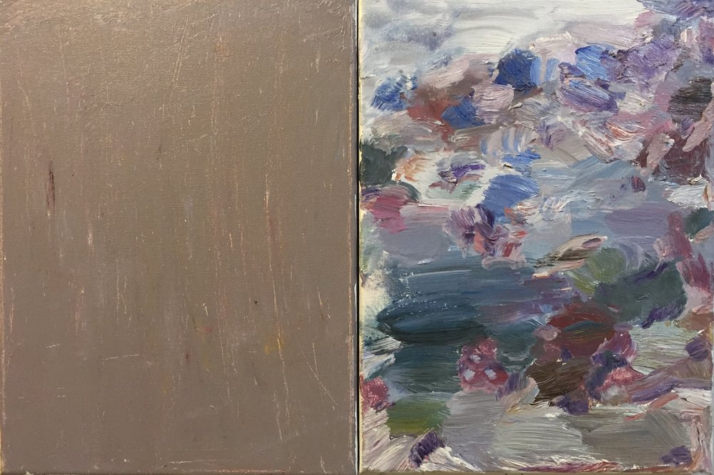 MP, Diptych 3, 2016, oil on canvas, (2)9x12s