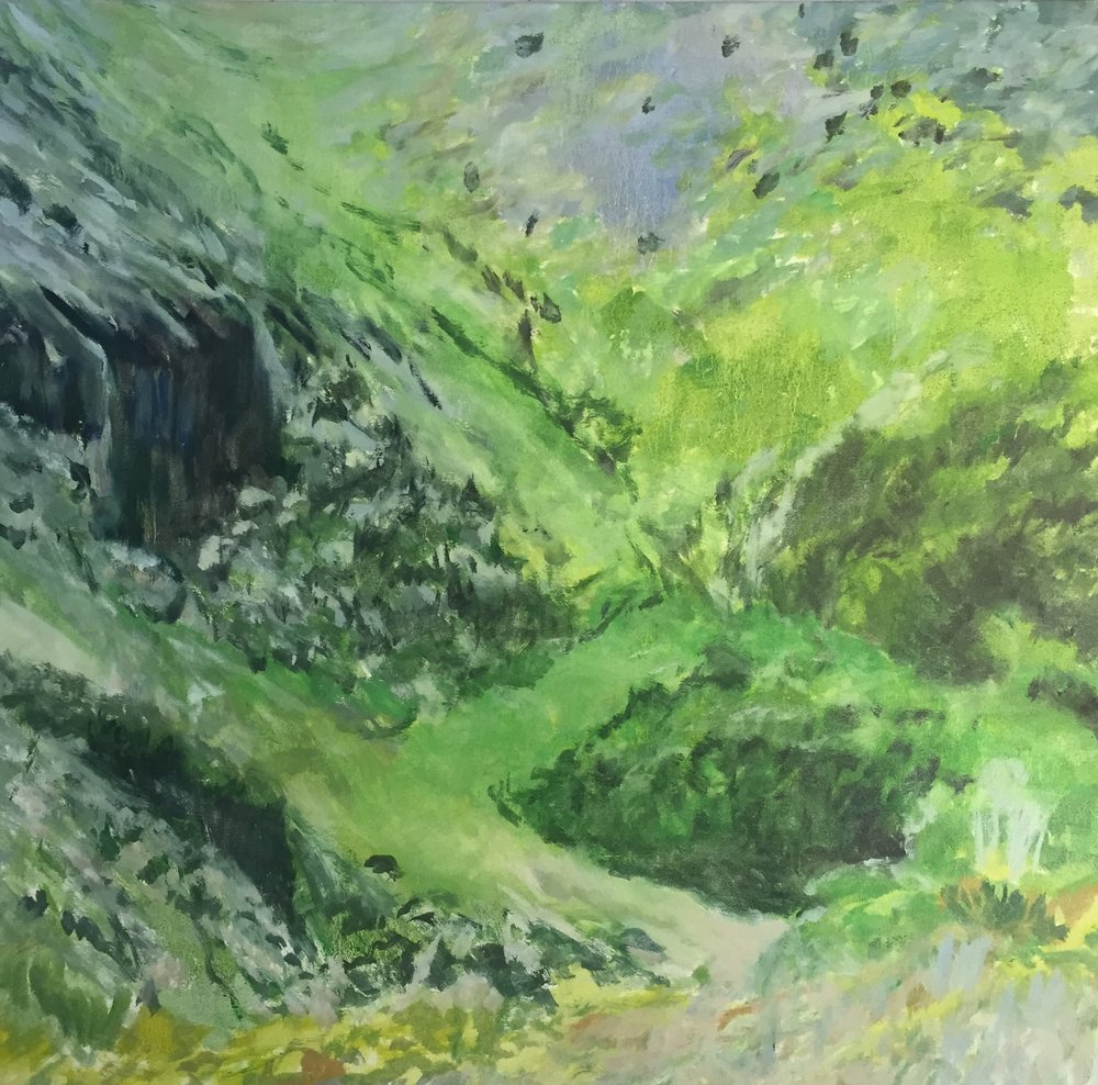 landscape, abstract, green, 2013
