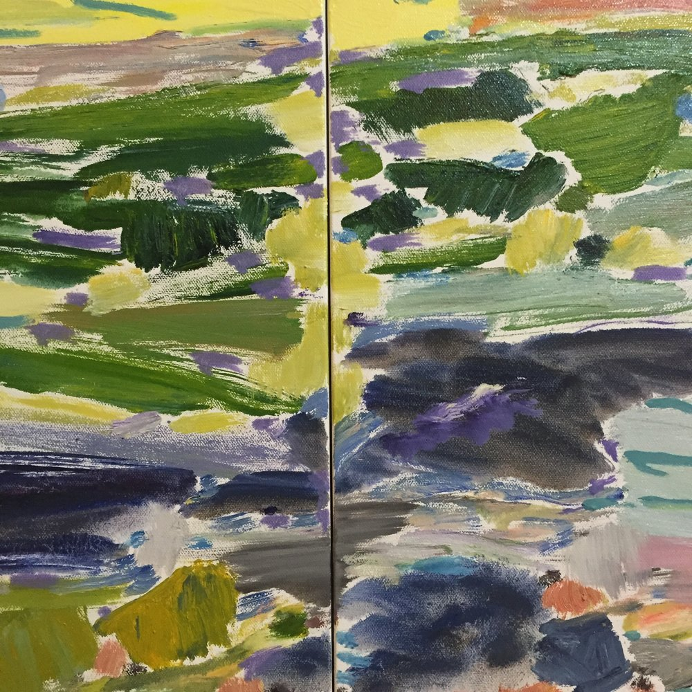 "This is a cropped diptych I am currently working on. 24""x40"""
