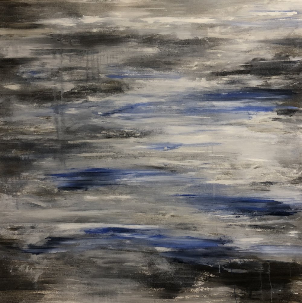 Cool Blue Grey Landscape, 2014