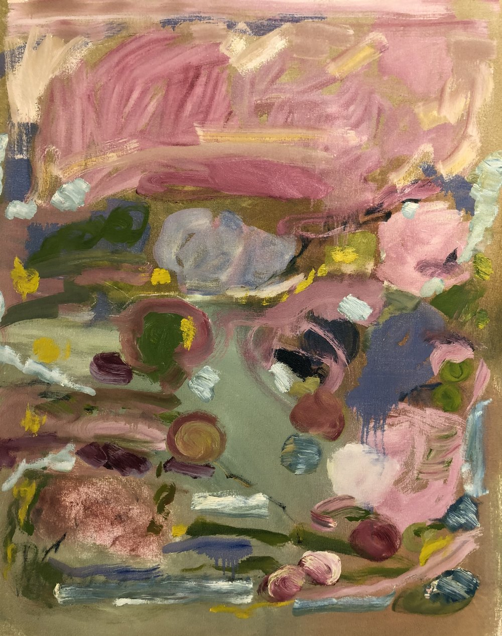 Pinks & Green Abstraction, 2015