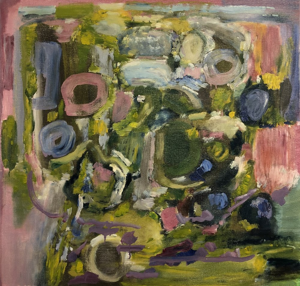 Green & Pink Abstraction, 2017