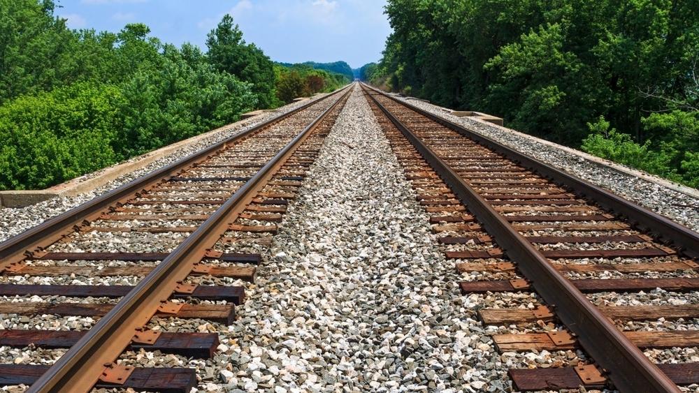 Closeup photo about interwaved rails..jpg