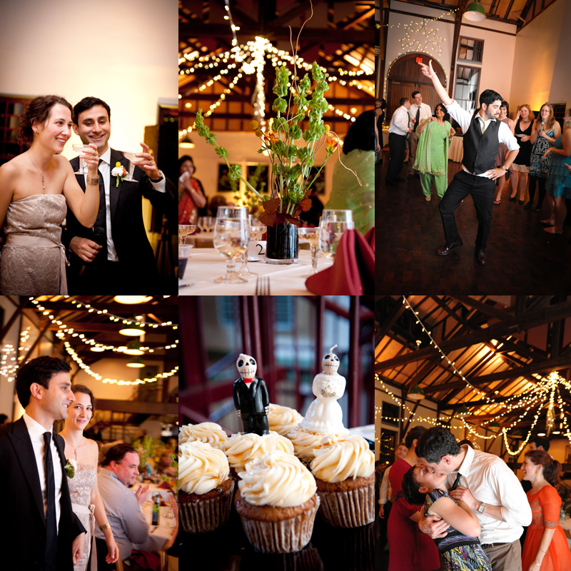 reception at the trolley barn