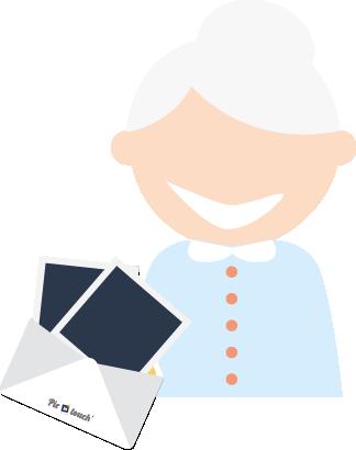 Chaque semaine, cette belle enveloppe bleue flanquée d'un joli timbre et d'une adresse manuscrite lui rappellera de surcroit la joie de recevoir un VRAI courrier.