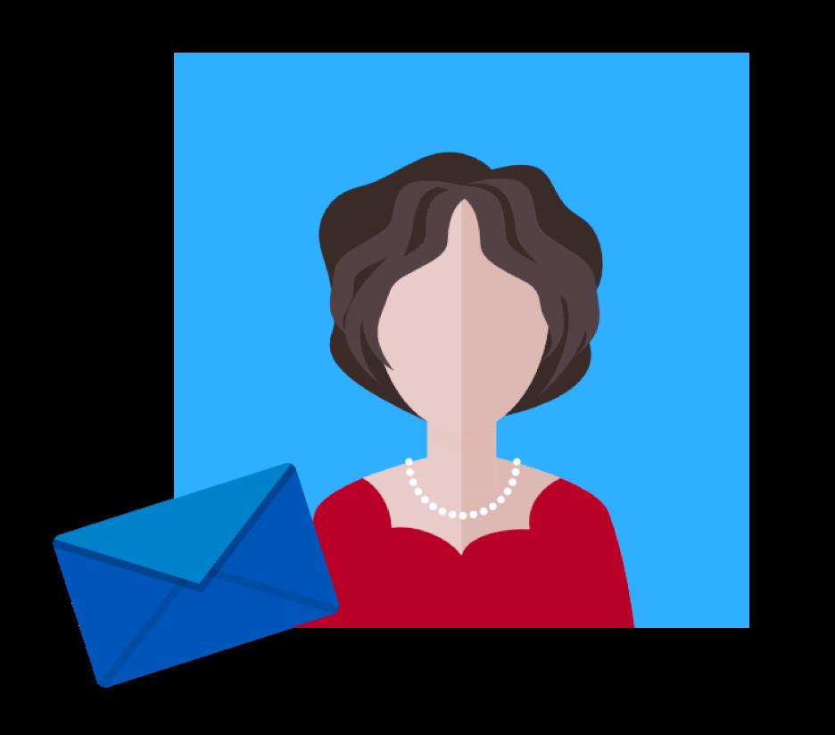 Chaque semaine, cette belle enveloppe bleue flanquée d'un joli timbre et d'une adresse presque manuscrite lui rappellera de surcroit la joie de recevoir un VRAI courrier.