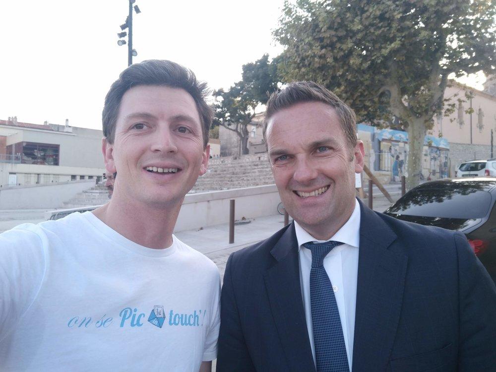 Picintouch avec Son Excellence Brendan Berne, ambassadeur d'Australie en France