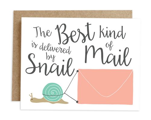Greeting cards rhubarb paper co 130c snail mail whitebgg m4hsunfo