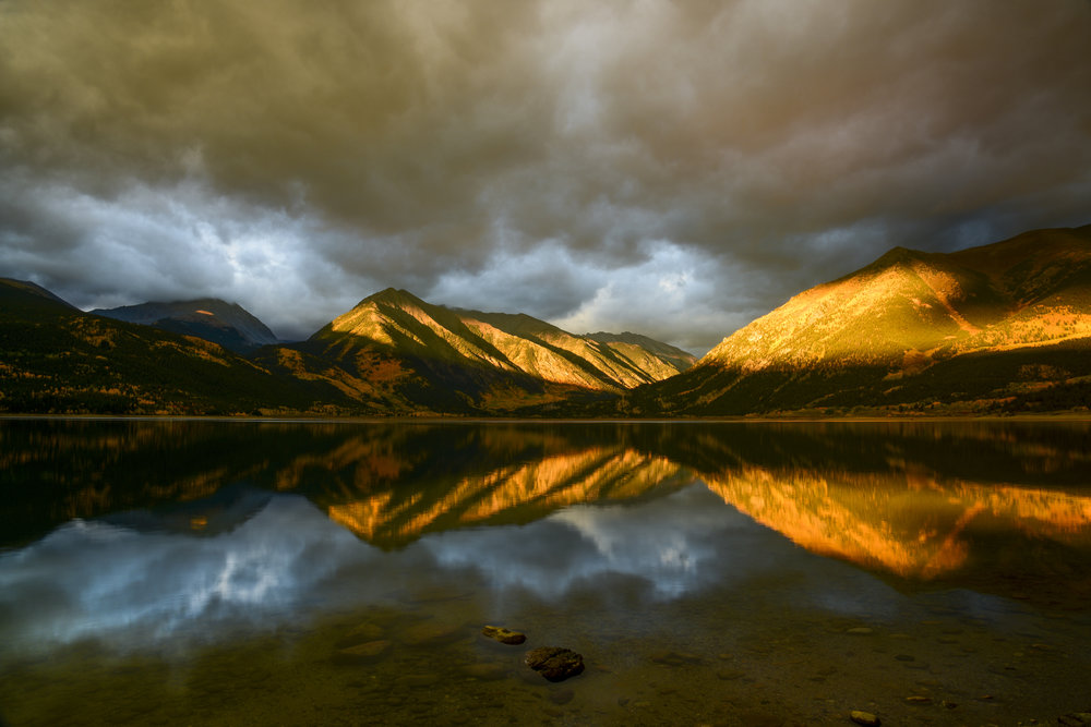 Sunrise at Twin Lakes, Colorado