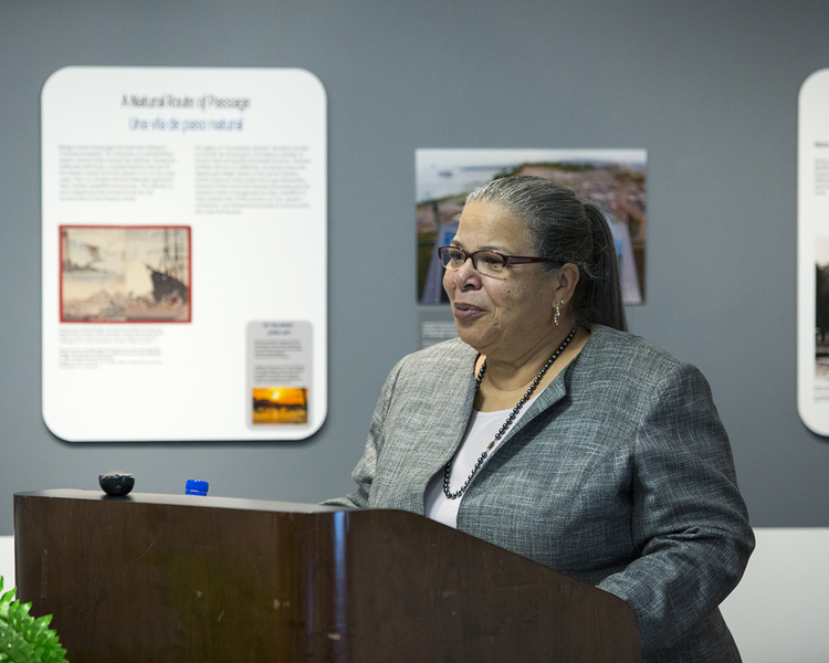 Camille Giraud Akeju, Director of the Smithsonian Anacostia Community Museum, provides an overview of the mission and purpose of the museum and its work in the broader community. (Photo courtesy of Smithsonian Institution)