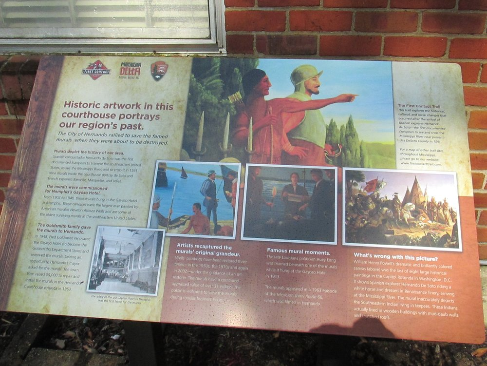DeSoto County: Interpretive signage for the First Contact Historical Trail