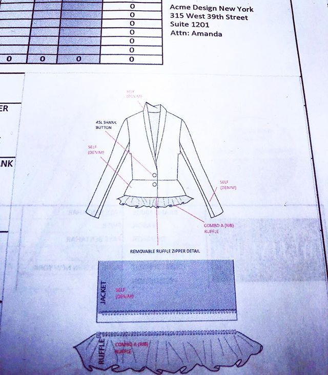 Technical Design @acmedesign.nyc #madeinnyc #fashion #acmedesignny #teckpack #fashiondesigner #patternmaking #garmentdistrict #mytechisbetterthanyours