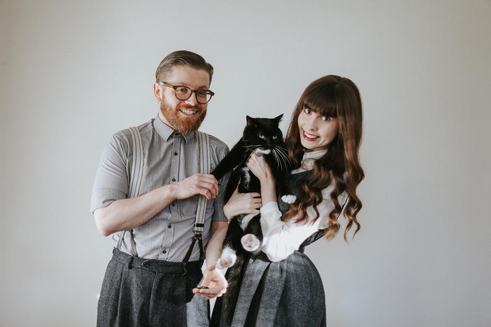 Martyn, Chloé & Mister Fluffles