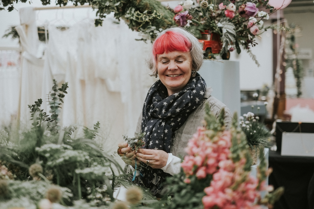 I found this magical lady in her natural habitat; the delightful Fiona of  Electric Daisy Flower Farm .