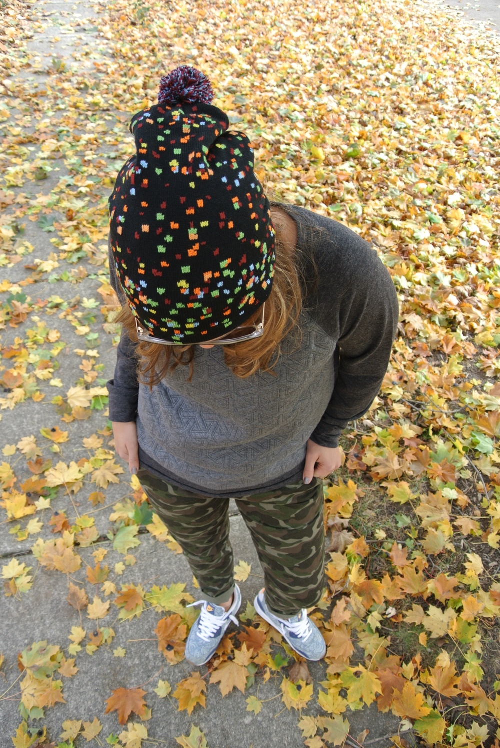 camo pants outfit for fall