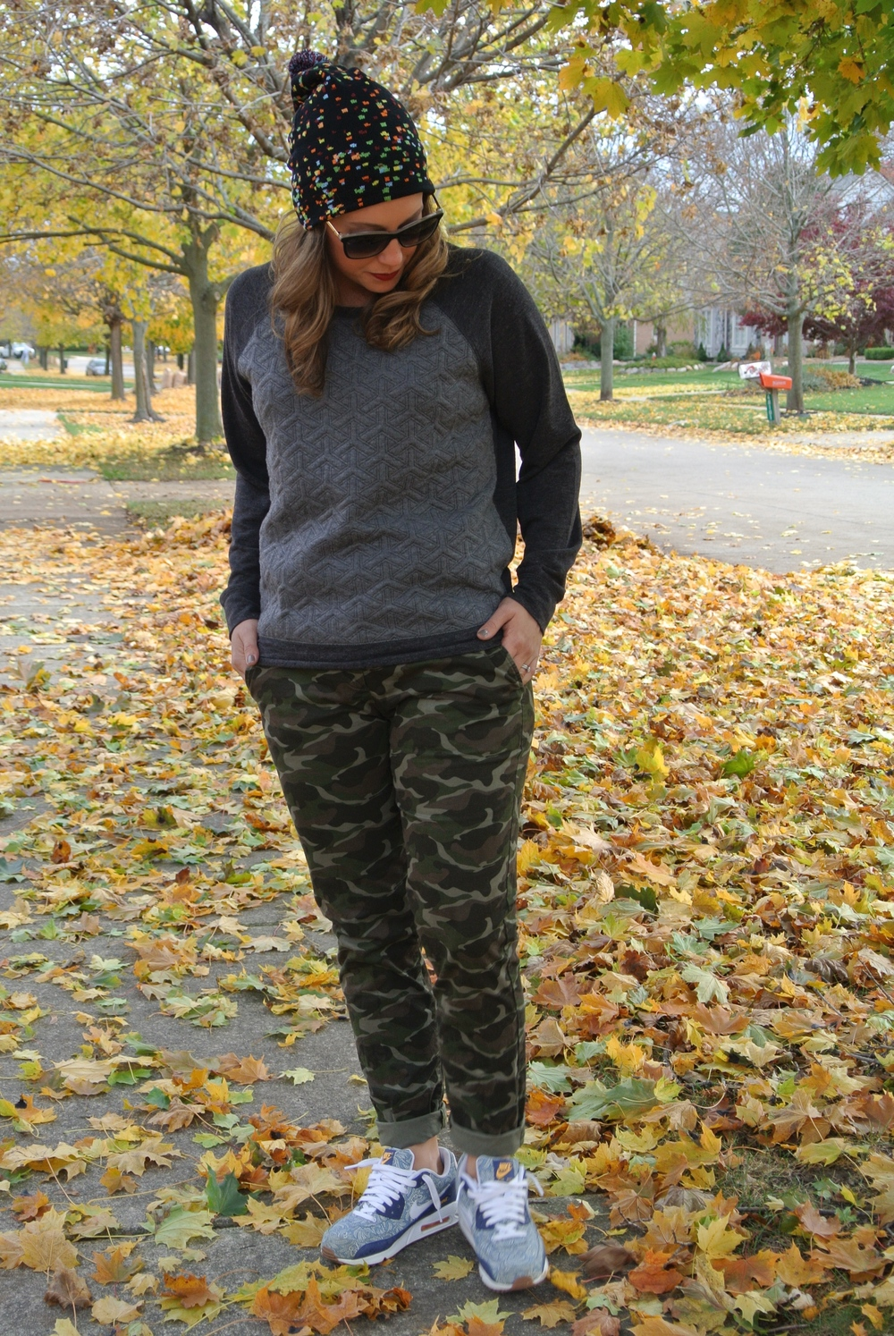 camo pants with nikes