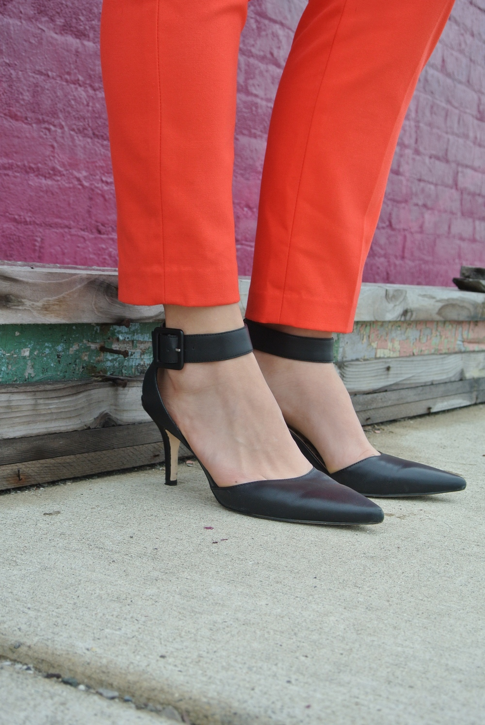 cropped pants and heels