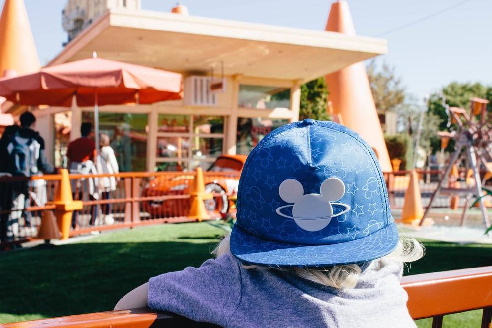 Disneyland, Cars at Disneyland, Disney hat for toddler
