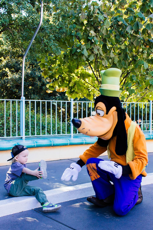 Disneyland, Goofy, family travel, disney with a toddler