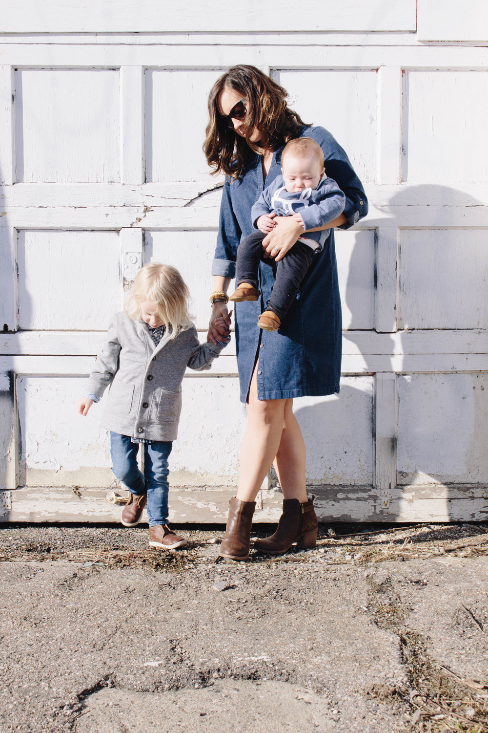 denim dress with booties, chambray outfits, dressing your kids fashionably, classic wear for kids, preppy, sundays best, h&m fashion for kids and adults,