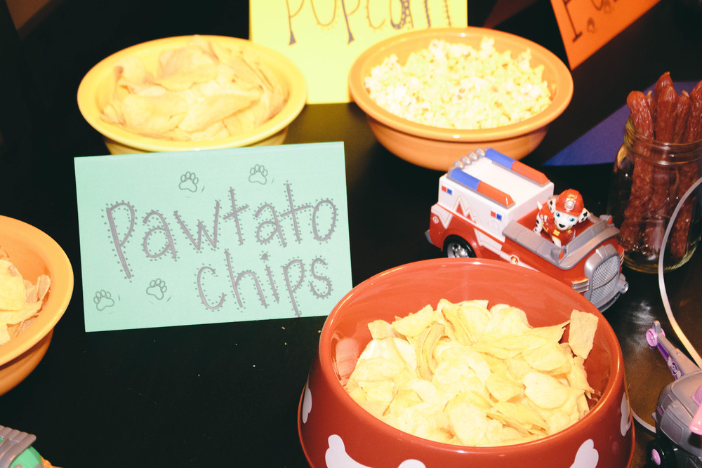 pawtato chips for paw patrol party