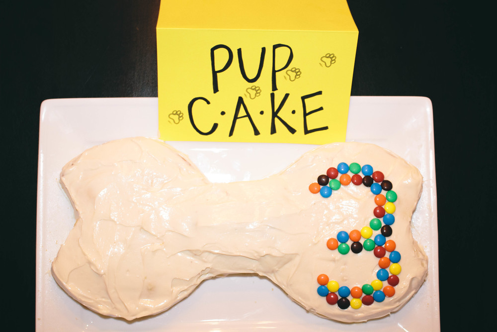 pup cake for paw patrol party idea