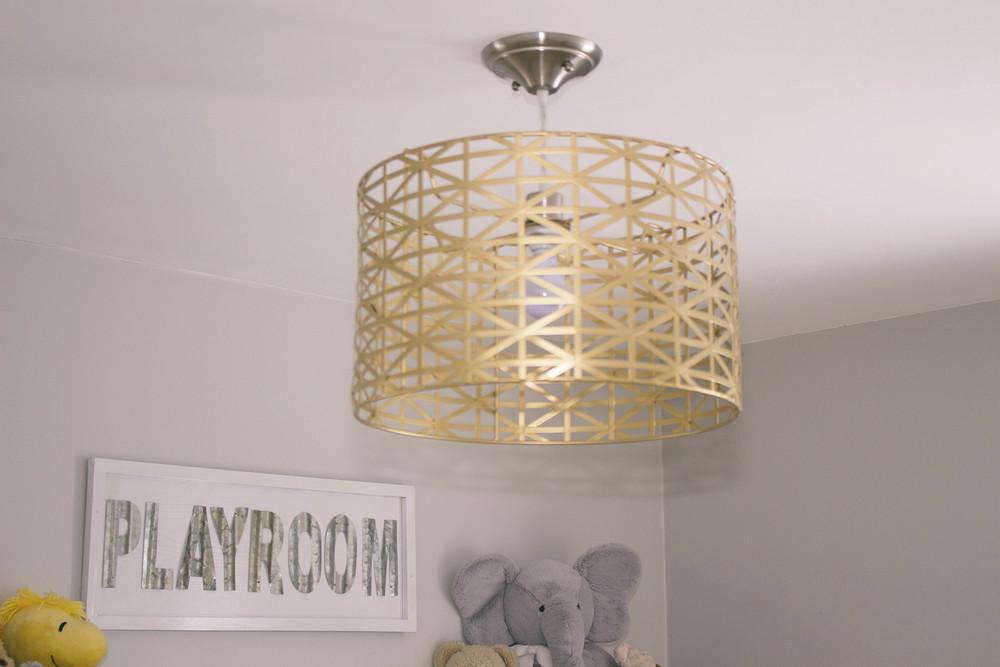 gold lighting, playroom