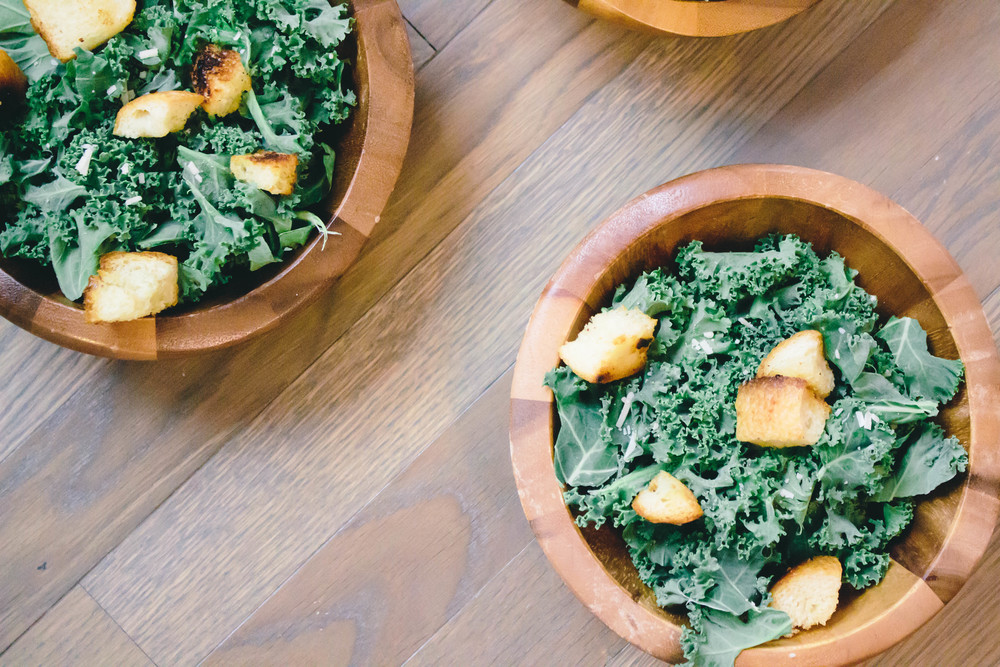 Kale caesar salad, dressed up caesar salad, how to use kale, kale, easy salad recipe, parmesan cheese, garlic cloves, italian bread,
