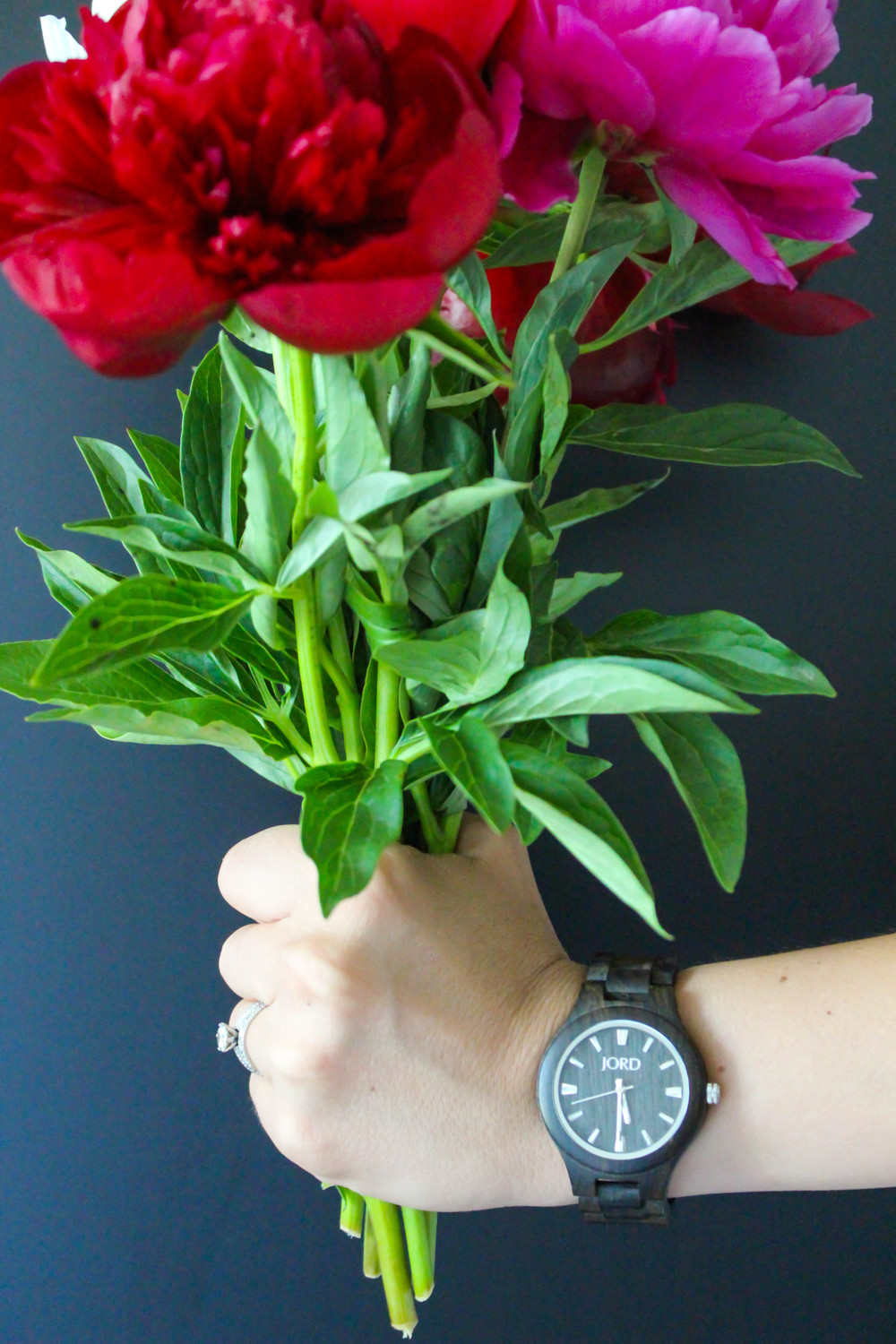 wood watch, ways to make time count in life, peonies time
