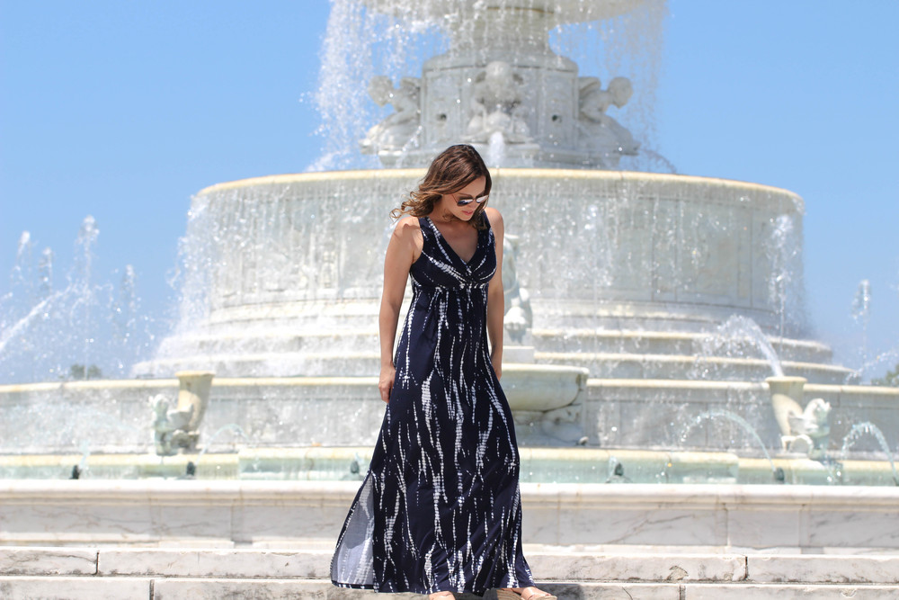 detroit, detroit travel, summer, maxi dress, navy maxi dress, summer dresses,