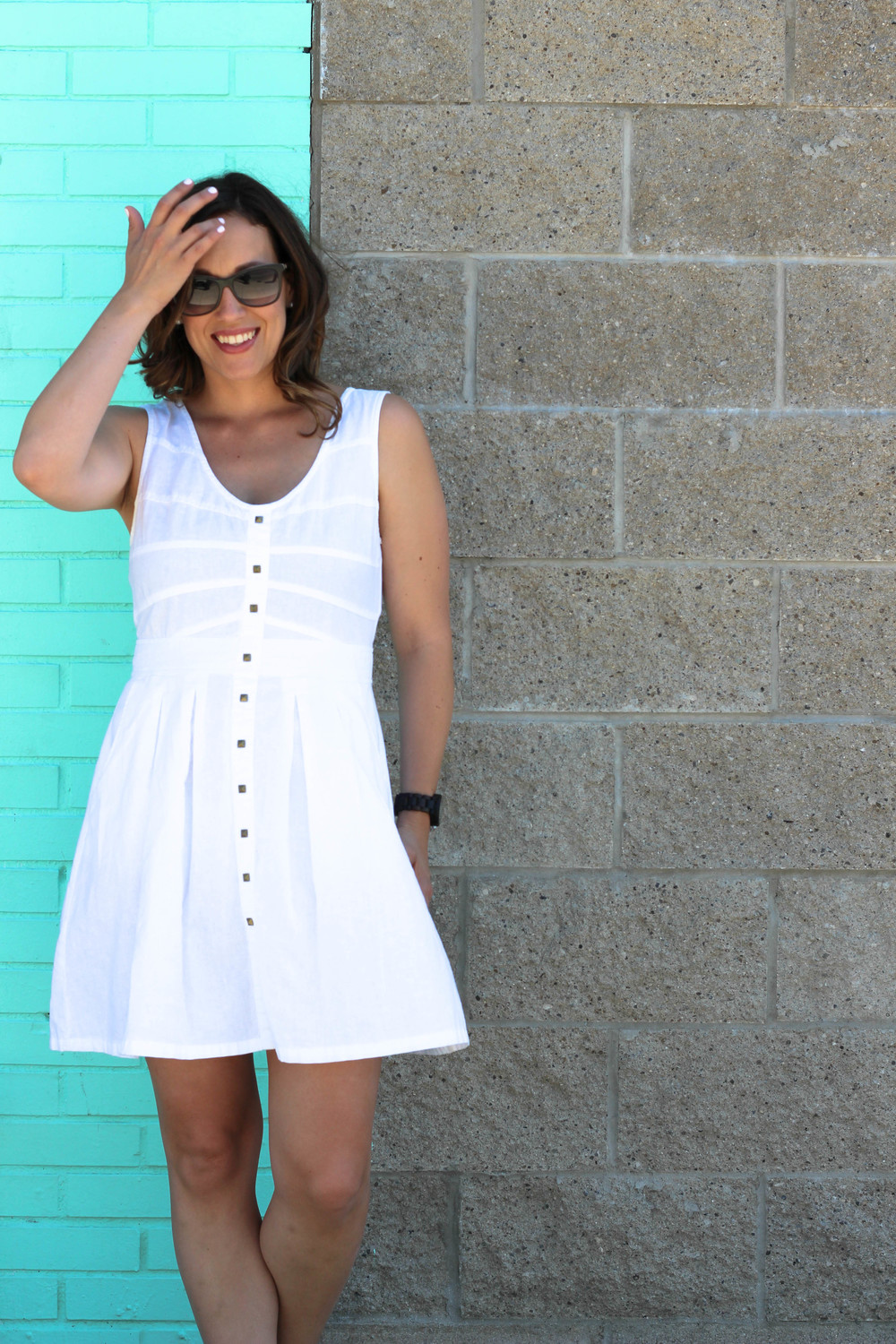 white summer dress outfit
