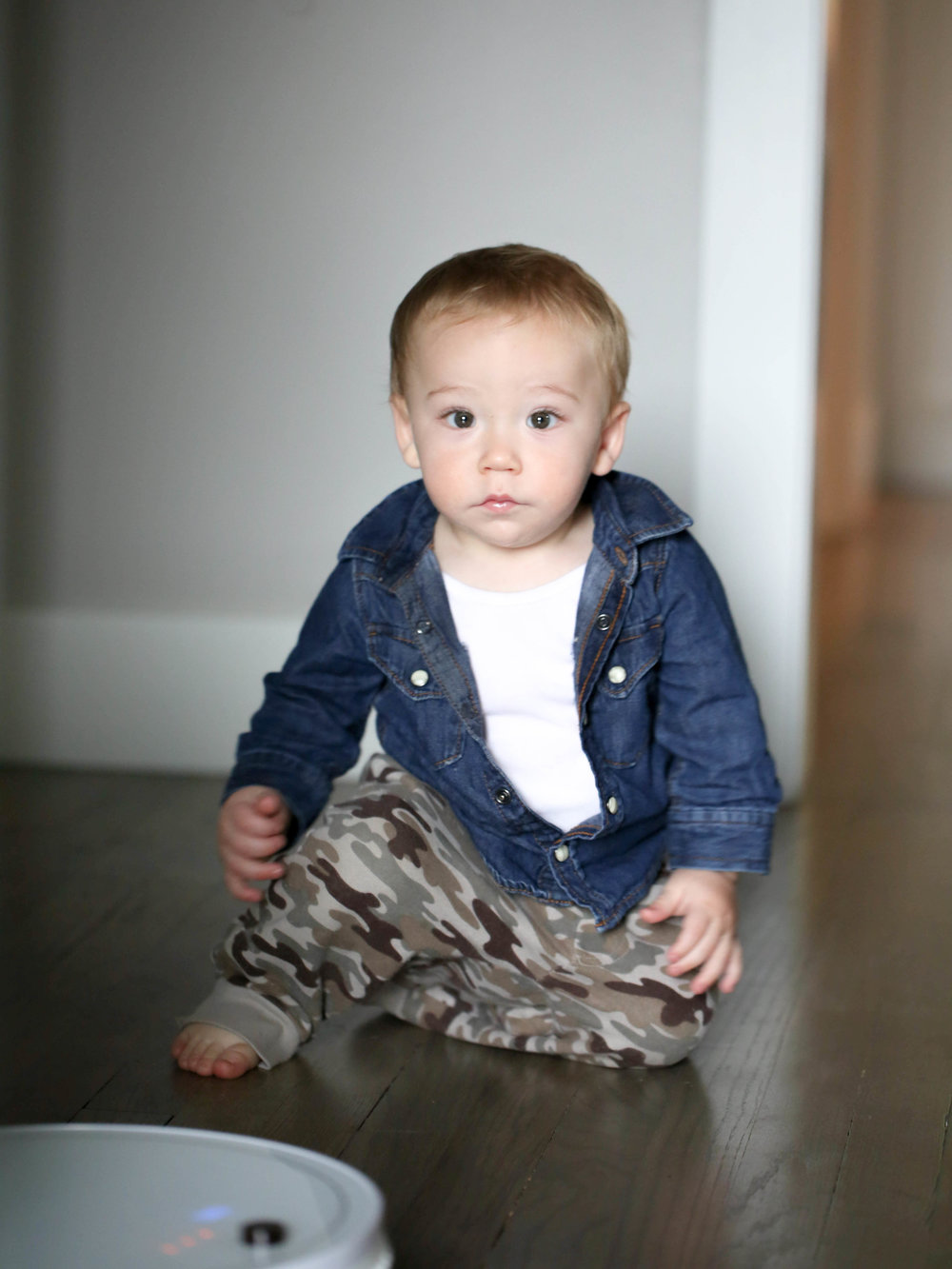 denim with camo pants for little kids