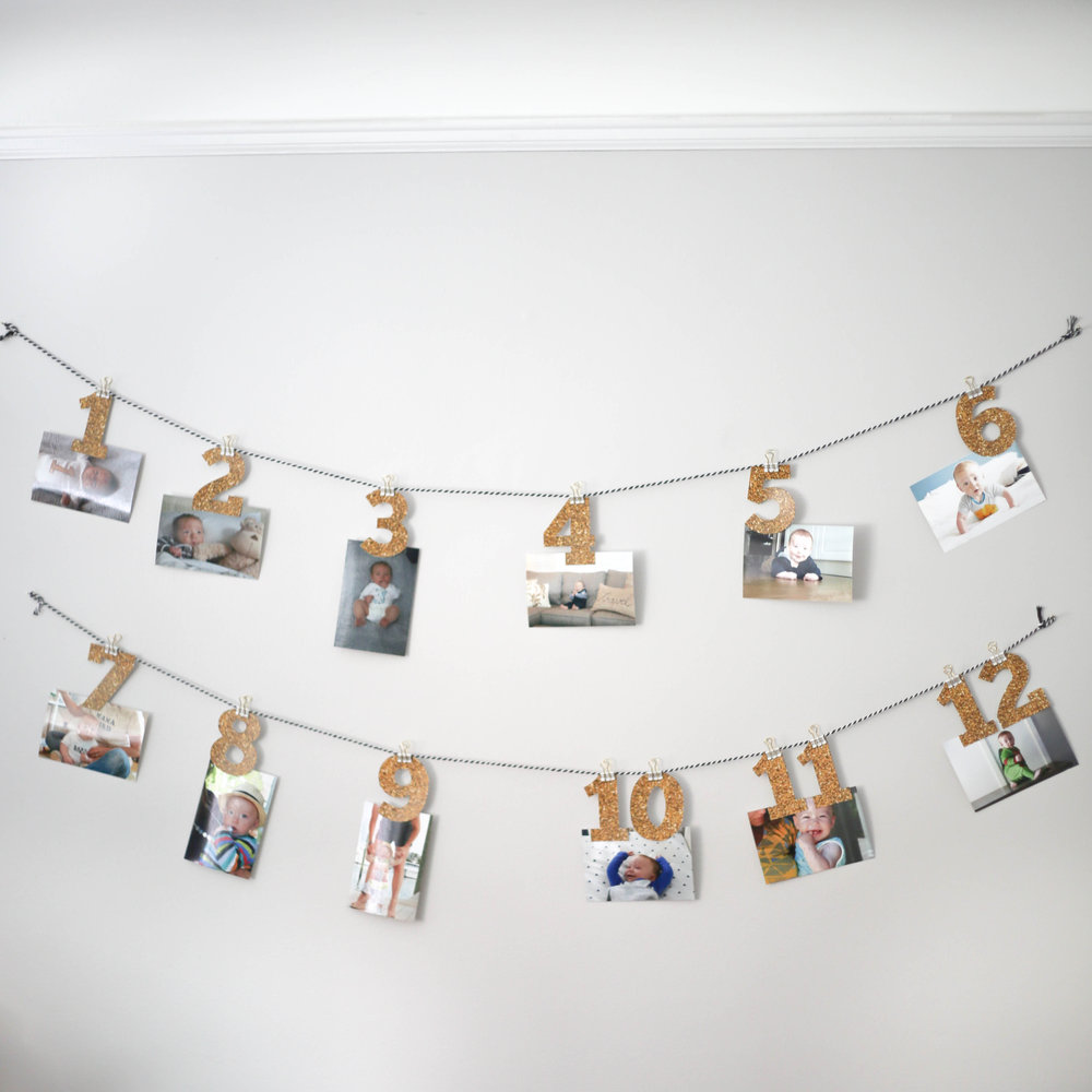12 months of pictures for birthday party